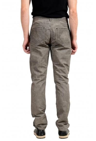 John Varvatos Men's Linen Faded Gray Slim Skinny Jeans: Picture 2
