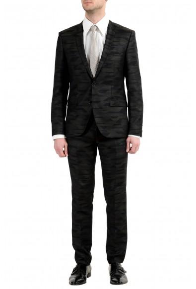 """Hugo Boss """"Adris4/Heilon"""" Men's 100% Wool Multi-Color Two Button Suit"""