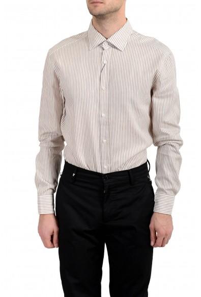"""Hugo Boss """"T-Shane"""" Men's Linen Striped Slim Long Sleeve Dress Shirt: Picture 2"""