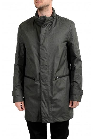 """Hugo Boss """"Daren4"""" Men's Gray Full Zip Windbreaker Jacket"""
