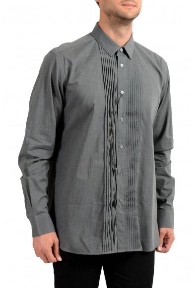Saint Laurent Men's Gray Long Sleeve Dress Shirt