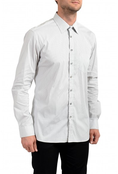 Malo Men's Striped Stretch Long Sleeve Dress Shirt
