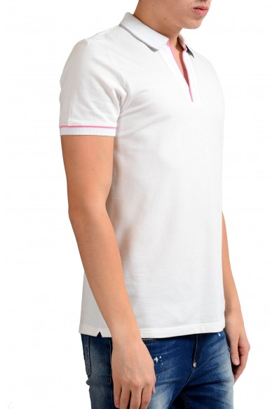 Malo Men's White Stretch Short Sleeve Polo Shirt : Picture 2