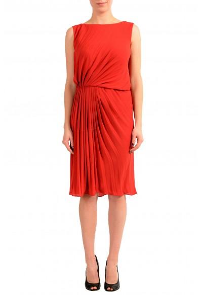 Maison Margiela 1 Red Sleeveless Women's Sheath Dress