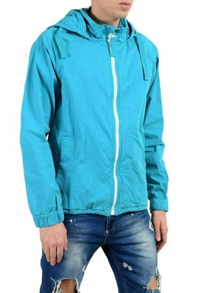 "Hugo Boss ""Oltone-D"" Men's Blue Hooded Full Zip Windbreaker Jacket: Picture 2"