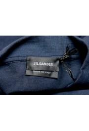 Jil Sander Men's Blue V-Neck Long Sleeve Sweatshirt: Picture 5