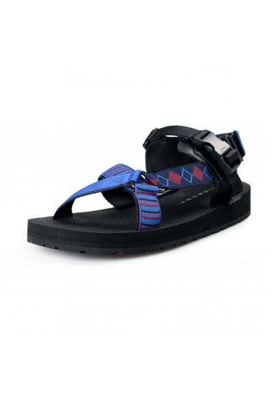 Prada Men's 4X3212 Strappy Canvas Leather Sandals Shoes