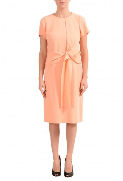 "Hugo Boss ""Kilone"" Women's Peach Short Sleeve Sheath Dress"
