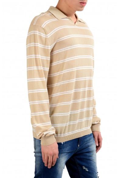 Malo Men's Striped Polo Light Sweater: Picture 2