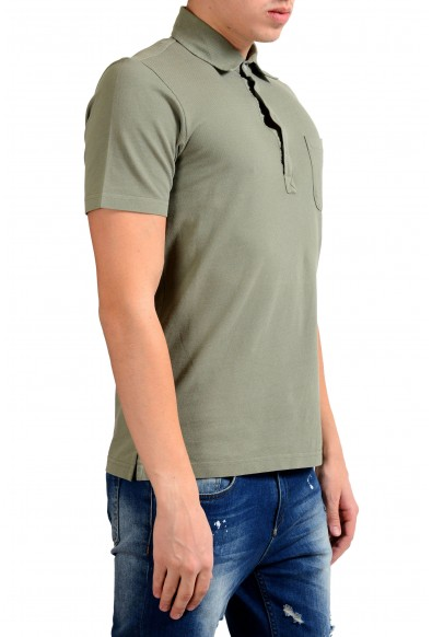 Malo Men's Olive Green Short Sleeve Polo Shirt : Picture 2