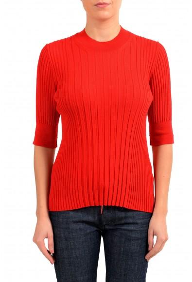 Maison Margiela 4 100% Wool Red Turtleneck Women's Sweater