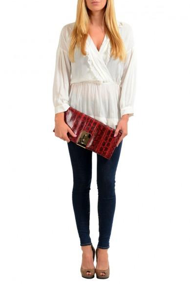 Valentino Garavani Women's Red Python Rockstud Long Clutch Bag: Picture 2