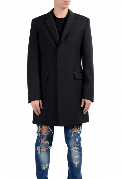 "Hugo Boss ""Nabor"" Men's Wool Mohair Black Three Button Coat"