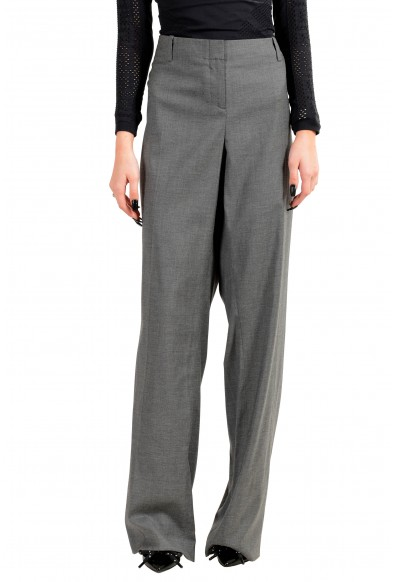 "Hugo Boss Women's ""Tulia4"" Gray Wool Dress Pants"
