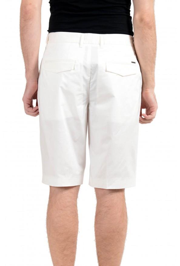 "Hugo Boss ""Kirio-Short-Pleats"" Men's White Pleated Casual Shorts: Picture 3"