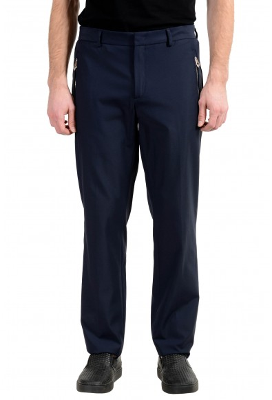 Versace Collection Men's Navy Blue Stretch Casual Pants