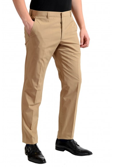 Prada Men's Beige Flat Front Dress Pants : Picture 2