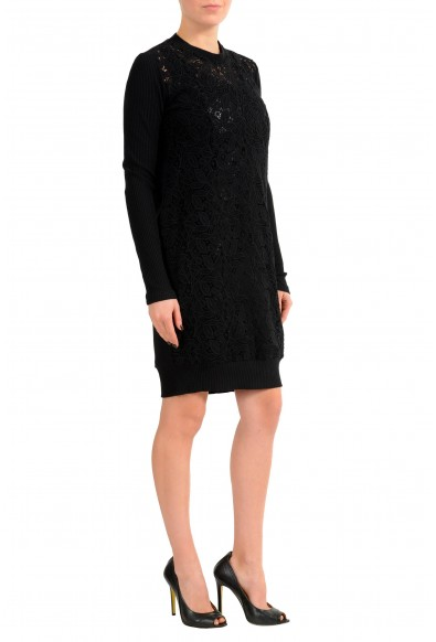 Versace Versus Black Long Sleeve Women's Sheath Dress : Picture 2
