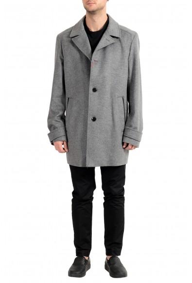 "Hugo Boss ""Midais1842"" Men's Wool Cashmere Three Button Pea Coat"