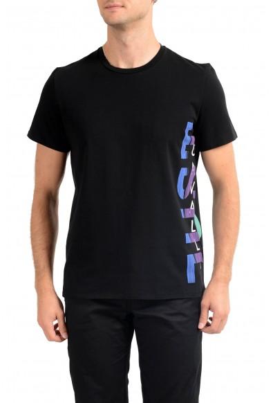 Just Cavalli Men's Black Graphic Print Crewneck T-Shirt