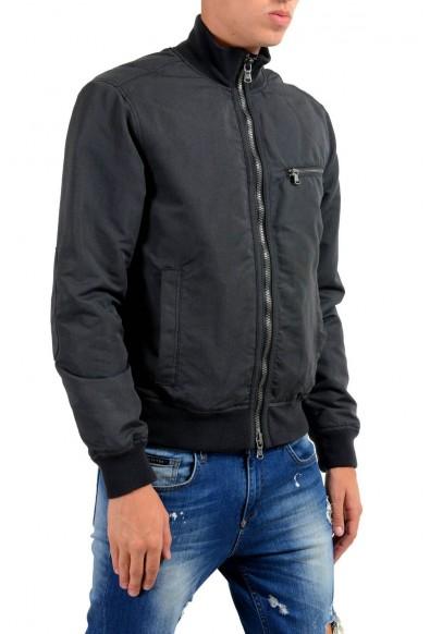 John Varvatos Star USA Men's Black Full Zip Bomber Windbreaker Jacket: Picture 2