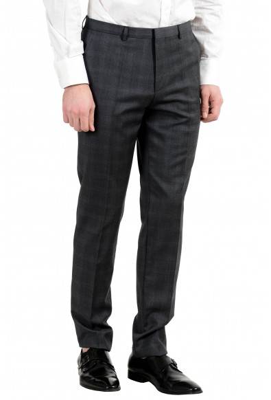 """Hugo Boss """"Astian/Hets"""" Men's 100% Wool Gray Extra Slim Two Button Suit: Picture 2"""