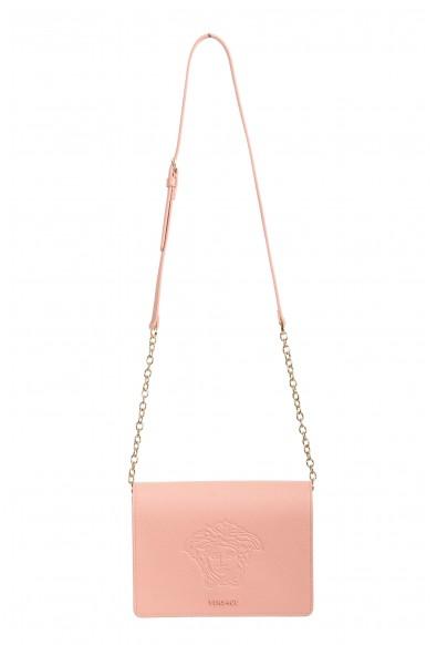 Versace Women's Dust Pink Medusa Textured Leather Crossbody Bag