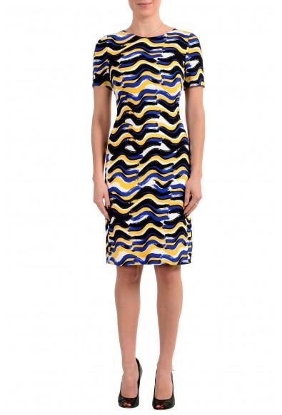 "Hugo Boss Women's ""Dashiba"" Multi-Color Short Sleeve Bodycon Dress"