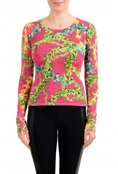 Versace Jeans Couture Women's Multi-Color 100% Silk Pullover Sweater