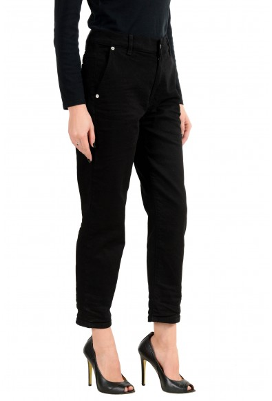 Versus by Versace Women's Black Stretch Denim Cropped Casual Pants: Picture 2