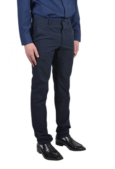 Prada Navy Flat Front Men's Casual Pants : Picture 2