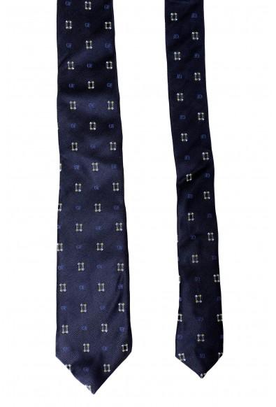 Gianfranco Ferre Men's Blue Logo Print 100% Silk Neck Tie: Picture 2