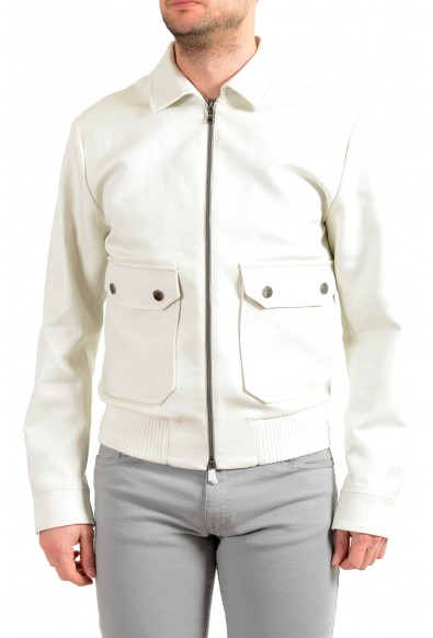 "Hugo Boss Men's ""Narten1"" Slim Fit Full Zip Gray Windbreaker Jacket"
