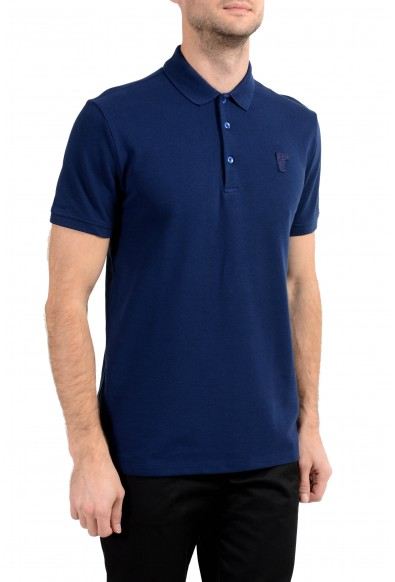 Versace Collection Men's Dark Blue Short Sleeve Polo Shirt: Picture 2