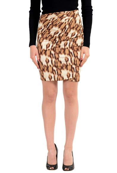 Just Cavalli Multi-Color Patterned Women's Stretch Pencil Skirt