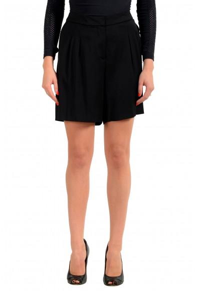 "Hugo Boss Women's ""Aledana"" Black Pleated Dress Shorts"