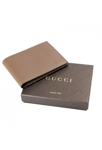 Gucci 100% Leather Brown Men's Bifold Wallet: Picture 2