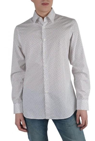 Prada Men's Multi-Color Long Sleeve Dress Shirt