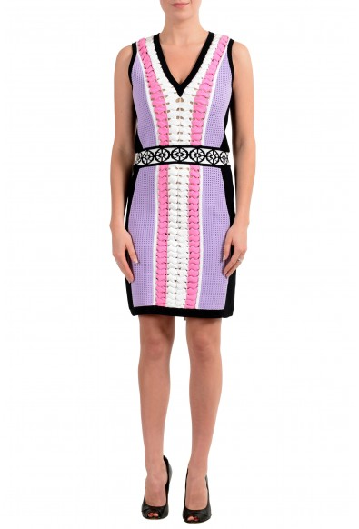 Versace Women's Sleeveless Stretch Sheath Knitted Dress
