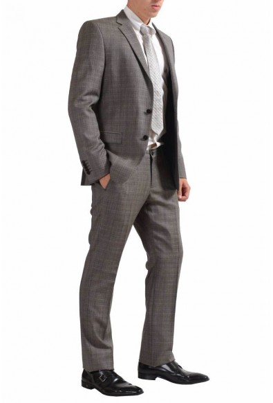 Versace Collection Men's 100% Wool Plaid Two Button Suit : Picture 2