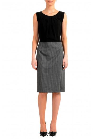 "Hugo Boss Women's ""Dorini"" Two Tone Wool Sleeveless Pencil Dress"