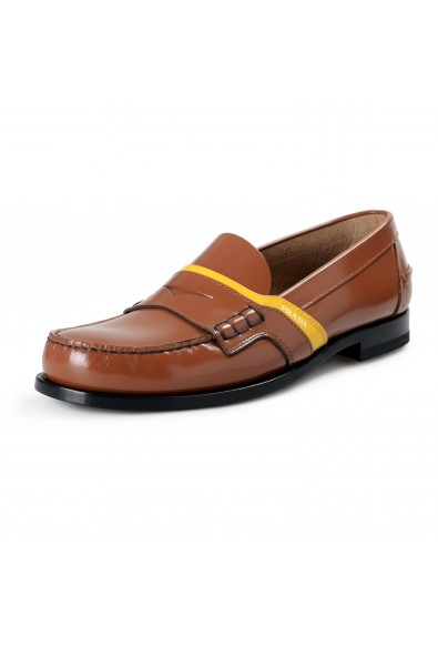 "Prada Men's ""2DG100"" Brown Leather Loafers Slip On Shoes"