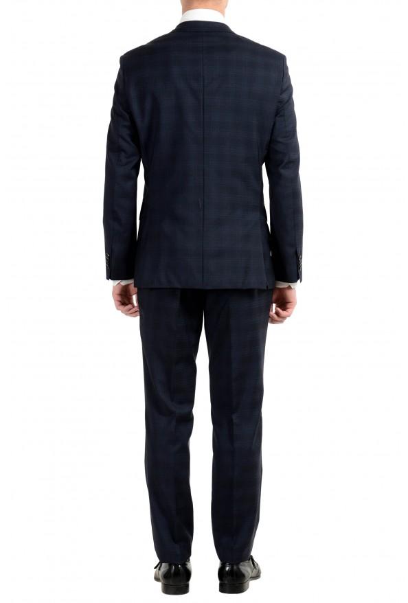 "Hugo Boss ""Johnstons2/Lenon"" Men's 100% Wool Blue Plaid Two Button Suit: Picture 6"
