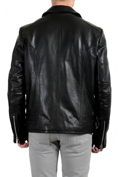 "Hugo Boss ""Lanster"" Men's 100% Leather Shearling Black Jacket: Picture 2"
