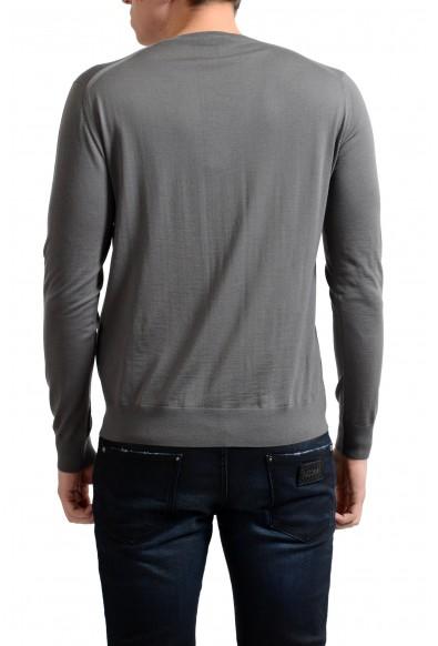 Prada Men's 100% Wool Gray V-Neck Pullover Sweater: Picture 2