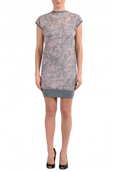 John Galliano Women's Multi-Color 100% Wool Knitted Bodycon Dress
