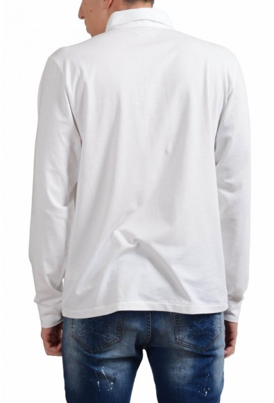 Malo Men's White Stretch Long Sleeve Polo Shirt: Picture 2