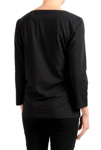 "Hugo Boss Women's ""E4492"" Black Long Sleeve Stretch Blouse Top: Picture 2"
