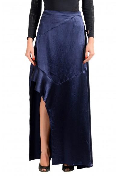 """Hugo Boss Women's """"Rilani"""" Navy Blue Asymmetrical Skirt"""