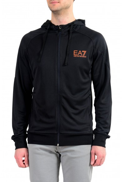 "Emporio Armani EA7 ""Tech"" Men's Black Full Zip Hoodie"